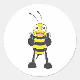 Kundenspezifische Shirts: Daumen up Bienen-Shirts Runder Sticker