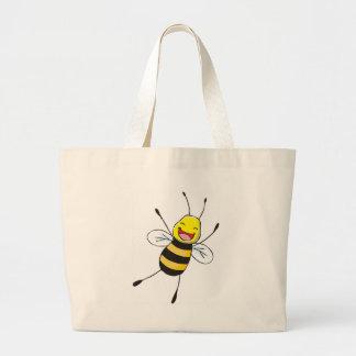 Kundenspezifische Shirts: Glückliche Bienen-Shirts Leinentaschen