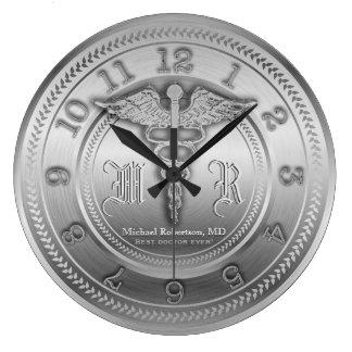 Kundenspezifische silberne Uhr Doktor-medizinische