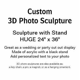 Kundenspezifische Skulptur des Foto-3D mit Stand Freistehende Fotoskulptur