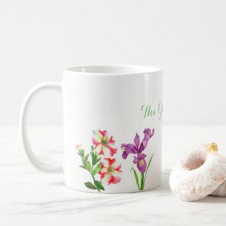 Kundenspezifische Sommer-Blumen-Sammlungs-Tasse Kaffeetasse