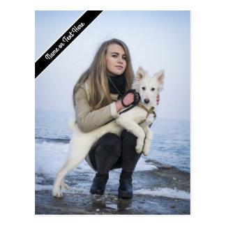 Kundenspezifische Strand-Hunde-und Postkarte
