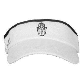 Kundenspezifische Strick-Maske, weiß mit Visor