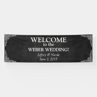 Kundenspezifische Tafel-Hochzeits-Fahne Banner