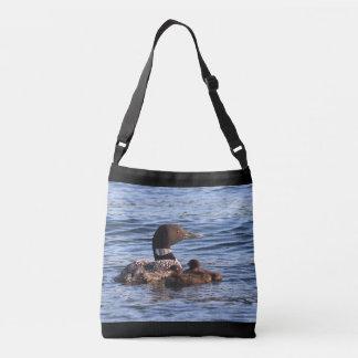 Kundenspezifische Tasche mit MaineLoons mit Babys