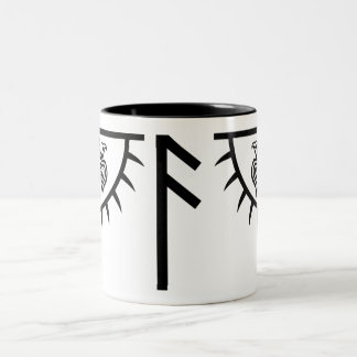 Kundenspezifische Tasse, die Huginn und Muninn Zweifarbige Tasse