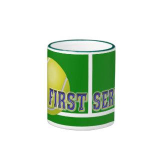 Kundenspezifische Tennis-Geschenke Ringer Tasse