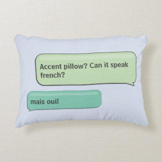 Kundenspezifische Textnachricht-französische Dekokissen