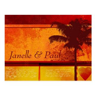 Kundenspezifische tropische Palme-Karten Postkarte