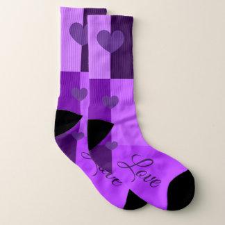 Kundenspezifische ultraviolette Herz-Socken (die Socken