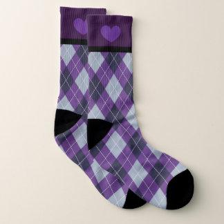Kundenspezifische ultraviolette karierte Socken Socken