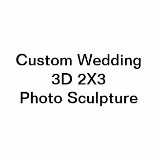 Kundenspezifische Wedding 3D 2X3 Foto-Skulptur Fotofigur