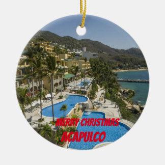Kundenspezifische Weihnachtsverzierung Acapulcos Keramik Ornament