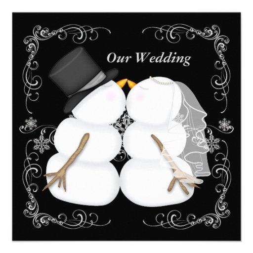 Kundenspezifische Winter-Hochzeits-Einladung