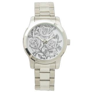 kundenspezifische Zeit, die Rosen zu riechen Uhr