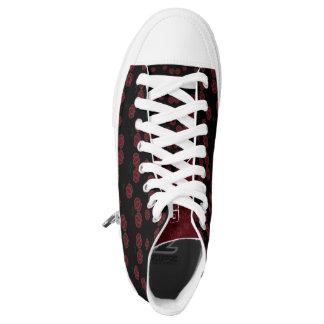 Kundenspezifische Zipz hohe Spitzenschuhe, Frauen Hoch-geschnittene Sneaker