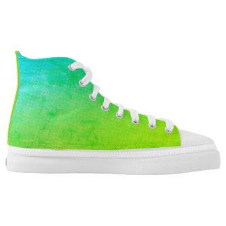 Kundenspezifische Zipz hohe Spitzenschuhe, Hoch-geschnittene Sneaker