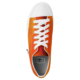 Kundenspezifische Zipz niedrige Spitzen - orange Niedrig-geschnittene Sneaker