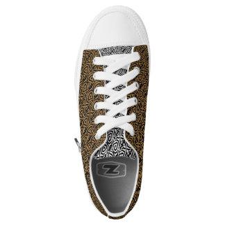 Kundenspezifische Zipz niedrige Spitzenschuhe, Geo Niedrig-geschnittene Sneaker