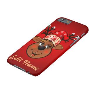 Kundenspezifischen Weihnachtsmanns Ren Barely There iPhone 6 Hülle