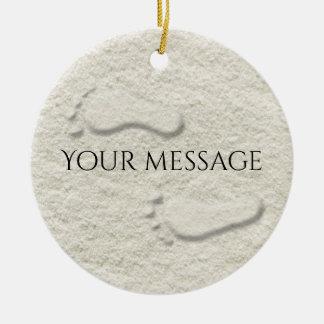 Kundenspezifischer Abdruck/Abdrücke auf sandigem Keramik Ornament