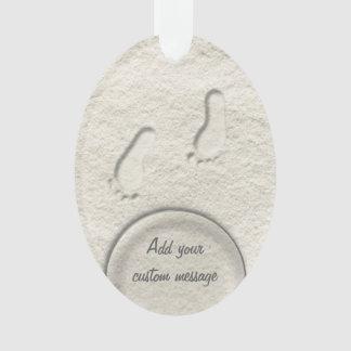 Kundenspezifischer Abdruck/Abdrücke auf sandigem Ornament