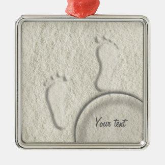 Kundenspezifischer Abdruck/Abdrücke auf sandigem Silbernes Ornament