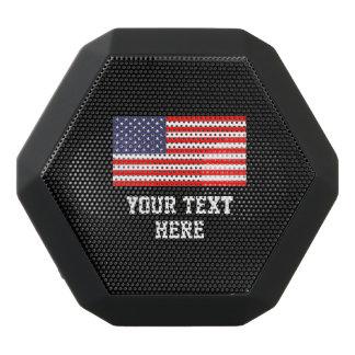 Kundenspezifischer amerikanische Flagge wearable Schwarze Bluetooth Lautsprecher