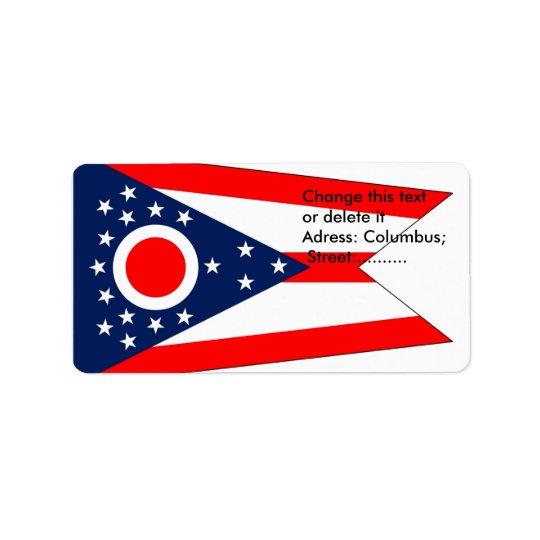 Kundenspezifischer Aufkleber mit Flagge von Ohio, Adressetiketten