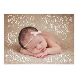Kundenspezifischer Auftrag - Geburts-Mitteilung Karte