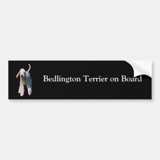 Kundenspezifischer Autoaufkleber Bedlington Terrie