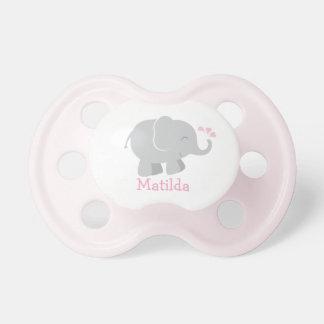 Kundenspezifischer Baby-Schnuller | rosa und Schnuller