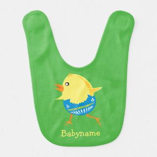 Kundenspezifischer Babyschellfisch Ostern-Kükens Lätzchen