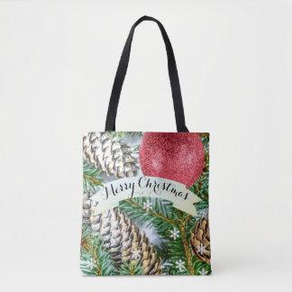 Kundenspezifischer Baum, Schneeflocke- u. Pinecone Tasche