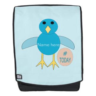 Kundenspezifischer blauer rucksack