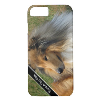 Kundenspezifischer Collie-Hundestillstehender iPhone 8/7 Hülle