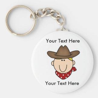 Kundenspezifischer Cowboy blondes Keychain Schlüsselanhänger