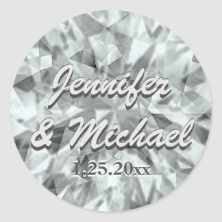 Kundenspezifischer Diamant-Blick-Aufkleber Runder Aufkleber
