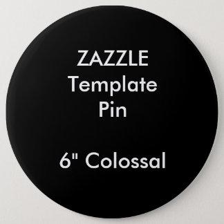 """Kundenspezifischer Druck 6"""" kolossale runde Runder Button 15,3 Cm"""