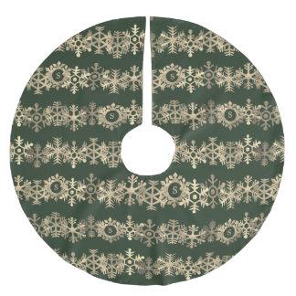 Kundenspezifischer dunkelgrüner und polyester weihnachtsbaumdecke