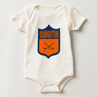Kundenspezifischer Edmonton-Schild-Entwurf Baby Strampler