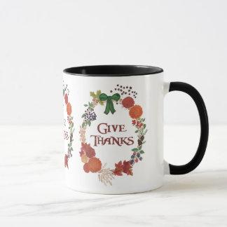 Kundenspezifischer Erntedank gibt Dank-FallWreath Tasse