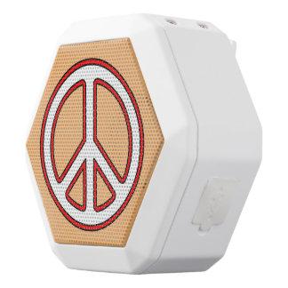 Kundenspezifischer Farbfriedens- und -harmonie Weiße Bluetooth Lautsprecher