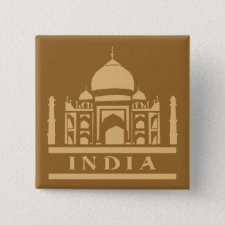 Kundenspezifischer Farbknopf INDIENS Quadratischer Button 5,1 Cm