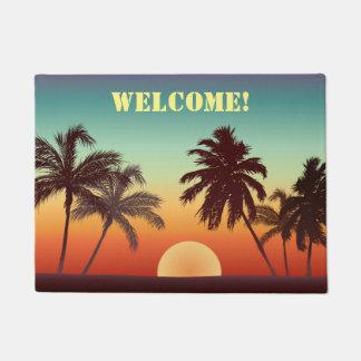 Kundenspezifischer Florida-Sonnenuntergang Türmatte
