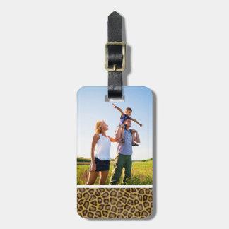 Kundenspezifischer Foto-Leopard-Pelz Gepäckanhänger