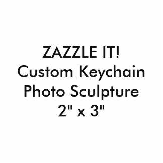 Kundenspezifischer Foto-Skulptur Keychain Fotoskulptur Schlüsselanhänger