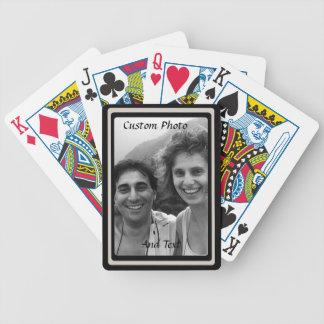 Kundenspezifischer Foto-Spielkarte-doppelter Bicycle Spielkarten