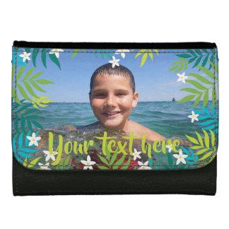 Kundenspezifischer Foto-Text-tropisches Grün