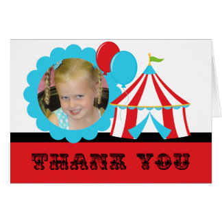 Kundenspezifischer Foto-Zirkus-Geburtstag danken Karte